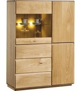 Atlanta Typ 45 Kredens 1 drzwi szklane, 3 drzwi drewniane - Meble Wanat