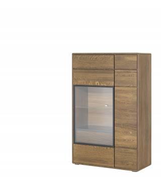 Bellis 15 Witryna niska 2-drzwiowa z 1 szufladą wewnętrzną - Meble Wanat
