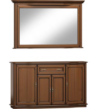 Sypialnia Fala lustro L3D + komoda 4D1S - Meble Wanat