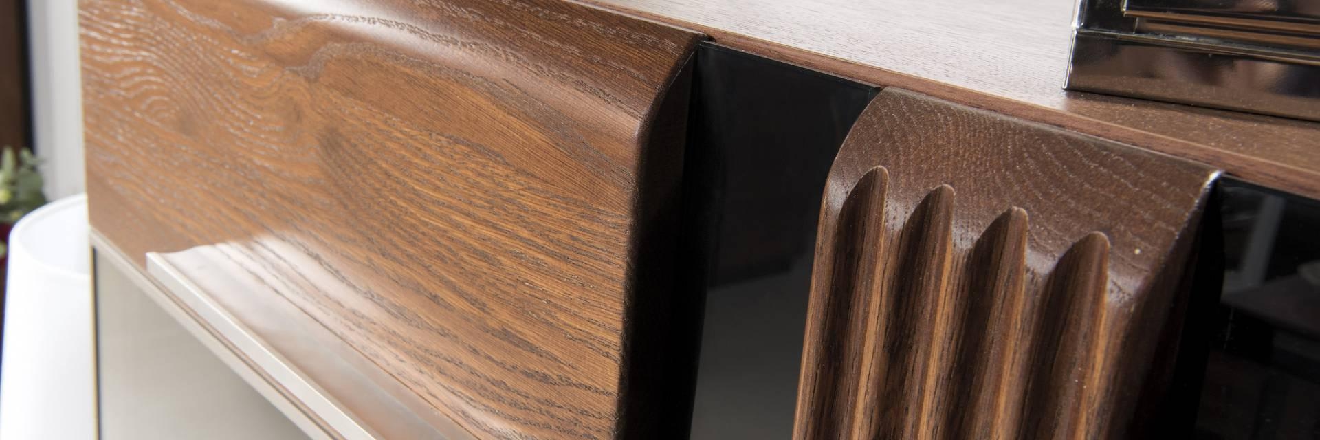 Kolekcja Mebli z Drewna Dębowego Porti do Salonu