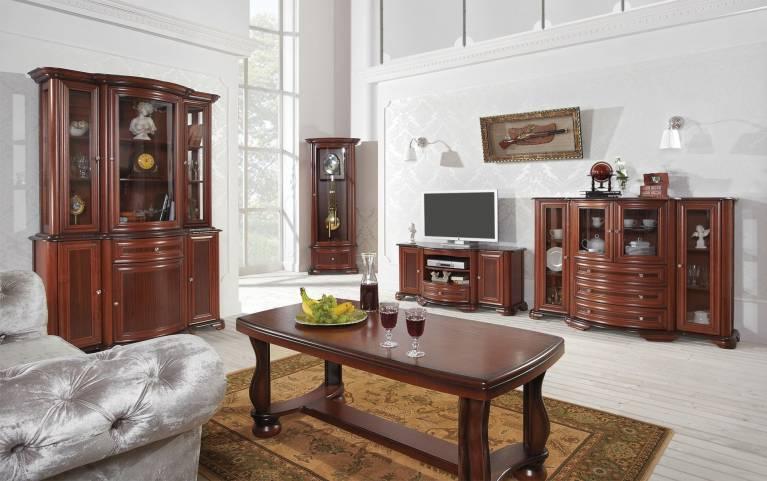 Salon w tradycyjnym wydaniu. Klasyczne meble do salonu