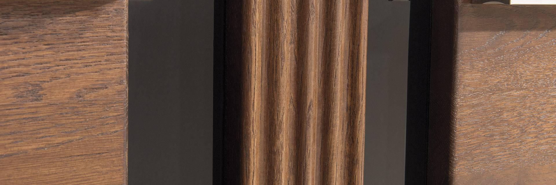 Kolekcja Mebli Porti z Drewna Dębowego do Salonu