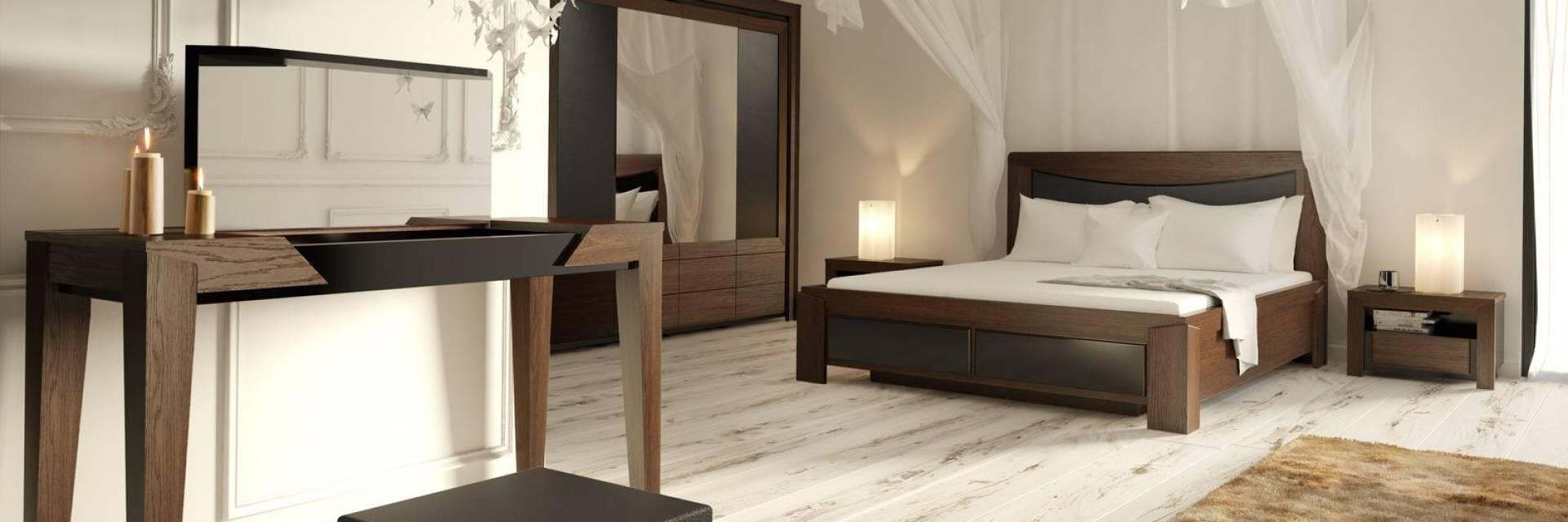 Meble Stylowe do Sypialni Sempre z Litego Drewna Dębowego