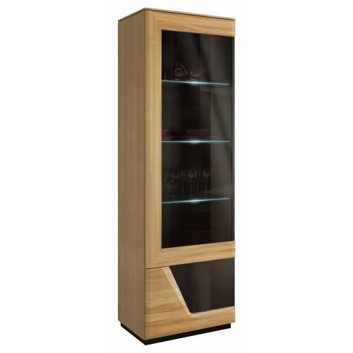 Smart-Salon | Witryna szkło pojedyncza lewa z oświetleniem