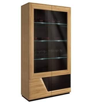 Smart Witryna szkło podwójna lewa z oświetleniem Mebin - Meble Wanat