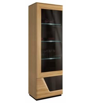 Smart Witryna szkło pojedyncza lewa z oświetleniem Mebin - Meble Wanat