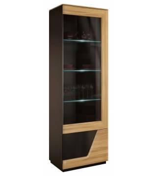 Smart Witryna szkło pojedyncza prawa z oświetleniem Mebin - Meble Wanat