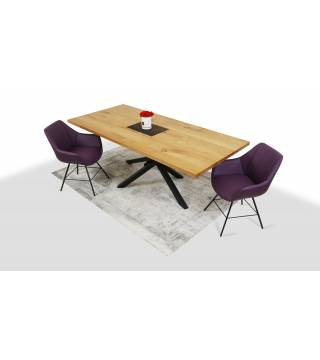 Stół Flash + Fotele LUGO 2 - Meble Wanat