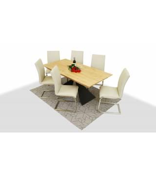 Stół OSUNA + Krzesła LAYLA - Meble Wanat