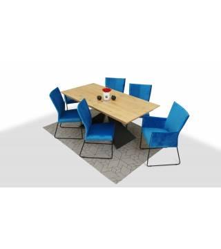 Stół OSUNA+ krzesła SORA - Meble Wanat