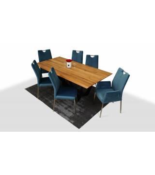 Stół SPARKLER + Krzesła MILEO - Meble Wanat
