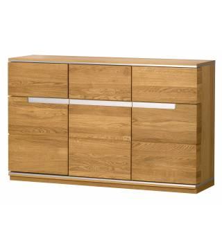 Torino 46 kredens 3-drzwiowy z 3 szufladami - Meble Wanat