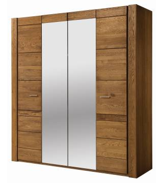VELVET 77 Szafa 4-drzwiowa (2 drzwi z lustrem) - Meble Wanat