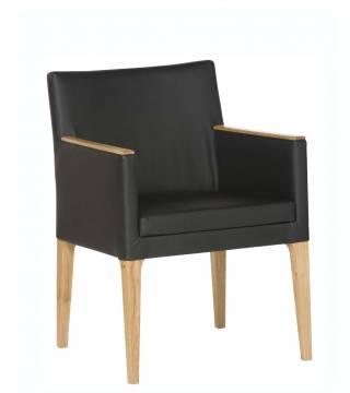 Zebra Fotel S45 z drewnianą aplikacją - Meble Wanat
